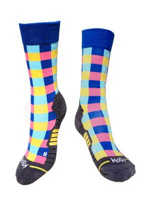 Checkered ladies hiking socks